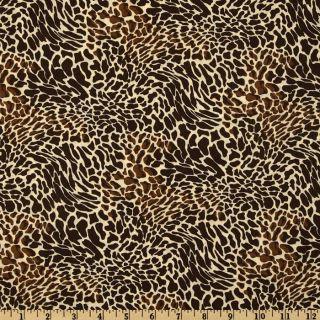 Cheetah Cream/Brown   Discount Designer Fabric   Fabric