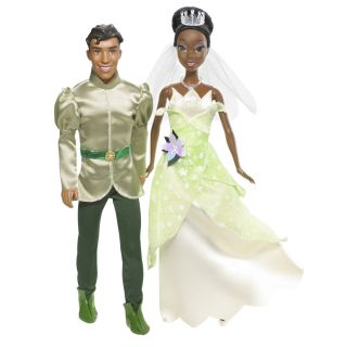 Disney Princess and Prince Doll Set (Tiana and Naveen)   Shop.Mattel