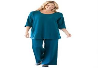 Plus Size Tunic top and pants set in soft knit  Plus Size Casual Sets