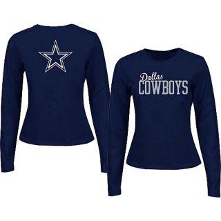Dallas Cowboys Womens Tops Womens Dallas Cowboy Marquee Long Sleeve T