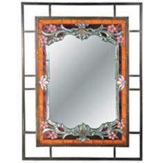 Dale Tiffany Alexei 36 High Art Glass Wall Mirror