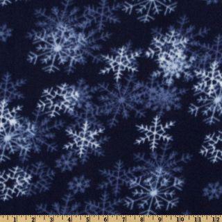 WinterFleece Dark Blue Blizzard   Discount Designer Fabric   Fabric