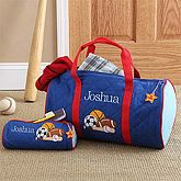 Boys Personalized Sports Duffel Bag & Travel Case   7348