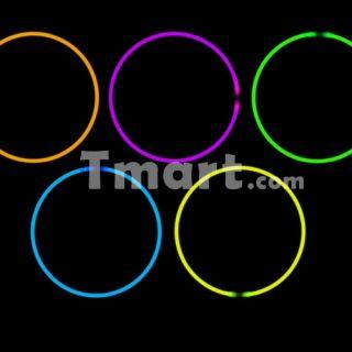100pcs 10 Super Bright Glow Stick Bracelets Purple   Tmart