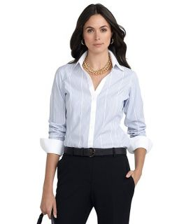 Non Iron Classic Fit Dash Stripe Dress Shirt   Brooks Brothers