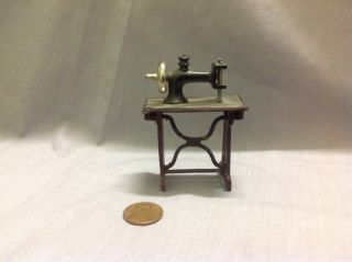 1920s Dollhouse Miniature Tynietoy Accessory German Metal Sewing