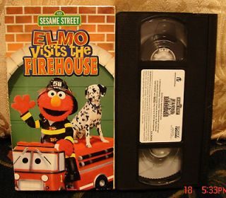 Sesame Street ELMO Visits The Firehouse Vhs Video RARE FREE US 1st CL