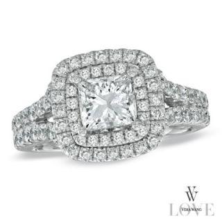 Vera Wang LOVE Collection 2 1/4 CT. T.W. Princess Cut Diamond Frame