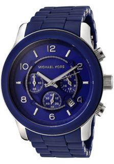 Michael Kors MK8104 Watches,Mens Chronograph Blue Polyurethane