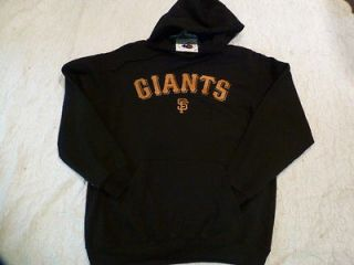 Licensed SAN FRANCISCO GIANTS HOODED Team Jersey SWEATSHIRT BLACK