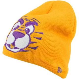 New Era LSU Tigers Preschool Mascot Knit Beanie   Gold