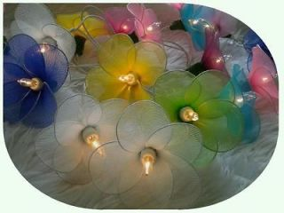 35 Flower Party String Light Girl Gift Room Decor Mix Patio BBQ Lights