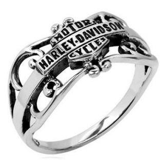 Harley Davidson Gipsy filigree sterling ring size 5 MOD HDR0218 FREE