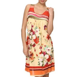 Anmol Cream/Red Floral Sequin Dress
