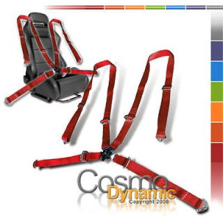 POINT CAMLOCK RED SAFETY SEAT BELT HARNESS AVENGER (Fits Grand Prix