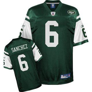 Mark Sanchez Jersey   Sanchez New York Jets Green #6 Replica Reebok