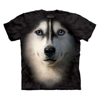 MOUNTAIN SIBERIAN FACE SIZE 3XL XXXL CUTE HUSKY PUPPY DOG PET T SHIRT