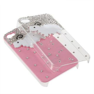 3D Luxury Bling Diamond Sheep Plastic Hard Back Case Cover For IPhone