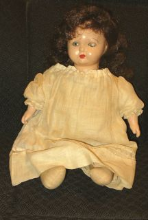 14 ANTIQUE VINTAGE TIN EYE COMPOSITION BABY DOLL ORIGINAL CLOTHING