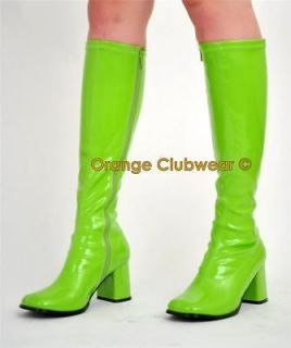green gogo boots