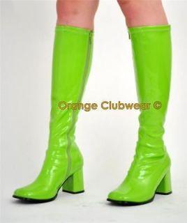 green gogo boots