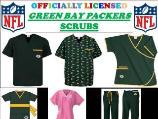 GREEN BAY PACKERS SCRUB TOP GREENBAY PACKERS SCRUB PANTS GREENBAY