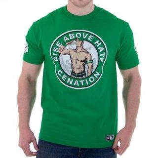 New 4 2012  John Cena Green Rise & Salute Cenation T shirt Wrestling