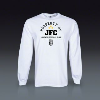Juventus Prop Of JFC Long Sleeve T Shirt   White  SOCCER