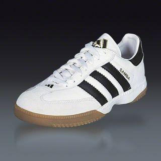 754cfb551274 adidas Samba Millenium White Black Indoor Soccer Shoes SOCCER