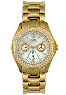 Guess 11609L Watches,Womens Goldtone Multi Function, Womens Guess