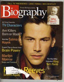 KEANU REEVES Biography Magazine 9/00 MARILYN MONROE WES BENTLEY SALMA