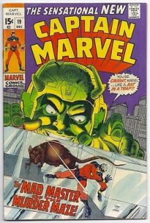 1969) CAPTAIN MARVEL #19 NEW COSTUME! GIL KANE ART! 4.0 / VERY GOOD