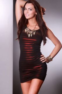 Red Black Metallic Short Sleeve Tight Party Sexy Dress @ Amiclubwear