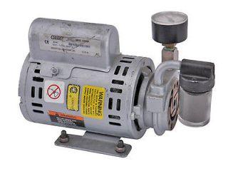 Reliance Gast 1/10HP 2850RPM 1 PH Rotary Vane Air Compressor Vacuum
