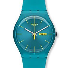 Swatch Armbanduhr New Gent, türkis blau im Karstadt – Online Shop