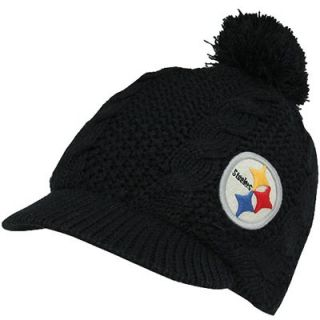 47 Brand Pittsburgh Steelers Ladies Mount Snow Visor Beanie   Black