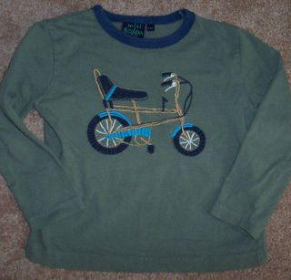 Mini Boden Boys Green Shirt COOL BIKE 3/4 Bicycle
