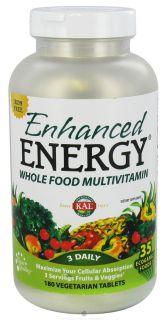Buy Kal   Enhanced Energy Whole Food Multivitamin Iron Free   180