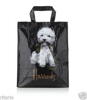 HARRODS WEST HIGHLAND WHITE TERRIER TEDDY BEAR MED TOTE BAG / 2012