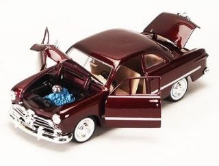 1949 Ford Coupe Burgundy Diecast Model Car 124 Scale Classic Ford