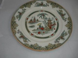 Antique Holland Petrus Regout Maasricht Honc Plate Polychrome Transfer