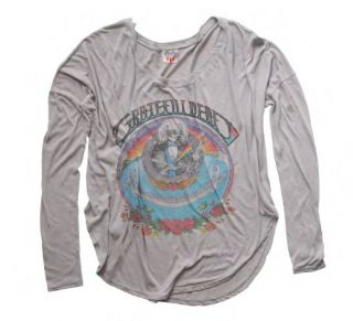 New Authentic Junk Food The Grateful Dead Super Soft Juniors T Shirt
