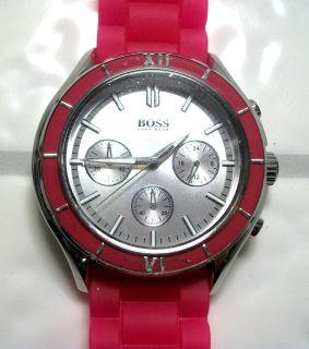 Hugo Boss Pink Ladies Sports Watch. HB5009. Very Nice Fast/Free
