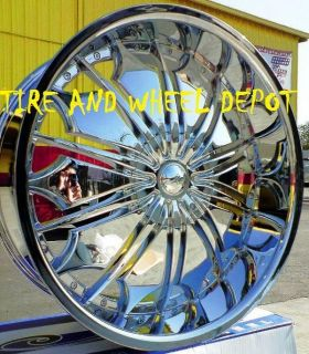 28 INCH TF706 RIMS WHEELS AND TIRES TAHOE ESCALADE SILVERADO SUBURBAN