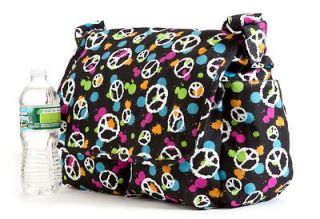 BE2006 40 Peace Sign Girl Junior High School Bag, Messenger Cotton Bag