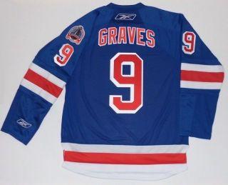 ADAM GRAVES 1994 STANLEY CUP NEW YORK RANGERS JERSEY REEBOK PREMIER