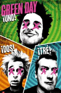 GREEN DAY POSTER   Trio Group Pose Uno Dos Tre OFFICIAL LARGE