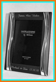 Engraved Black Photo Frame God Mother/Godparent Gift