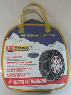 NEW Les Schwab 1550  S Quick Fit Tire Chains 15 & 16 Instructions