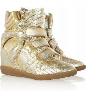 NIB ISABEL MARANT F/W2013 BIRD DORE WEDGE SNEAKERS Sz 38